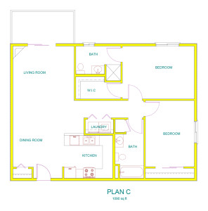 Home Designer Pro 8.0: UNIT C @ 1ST FLR.plan